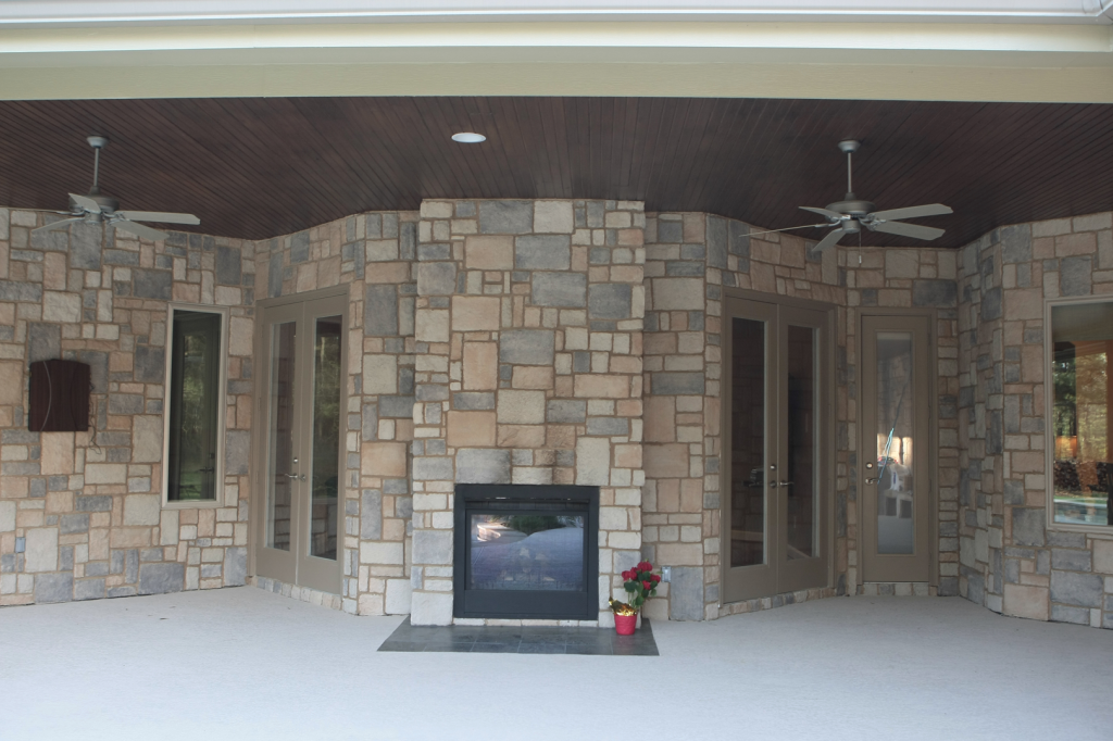 Home innovations century oaks estates for 2 way fireplace